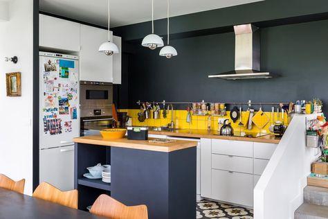 23 petites cuisines avec ilot central : idées d\'aménagement ...