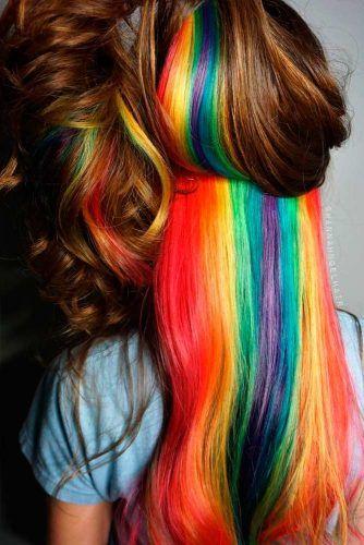 38+ Rainbow hair underneath inspirations