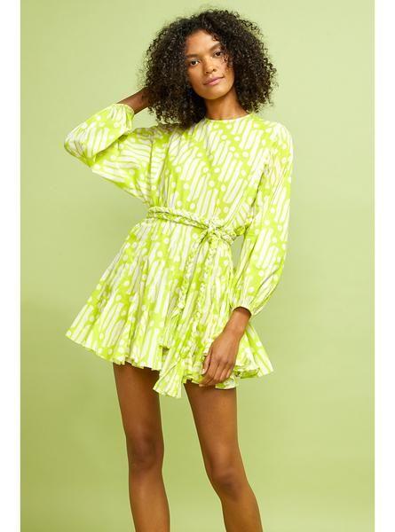 RHODE Ella Dress   Chartreuse Batik   Official Site
