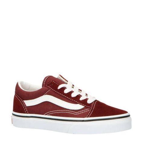 UY Old Skool sneakers roodwit Busjes, Vans sneakers en Rood