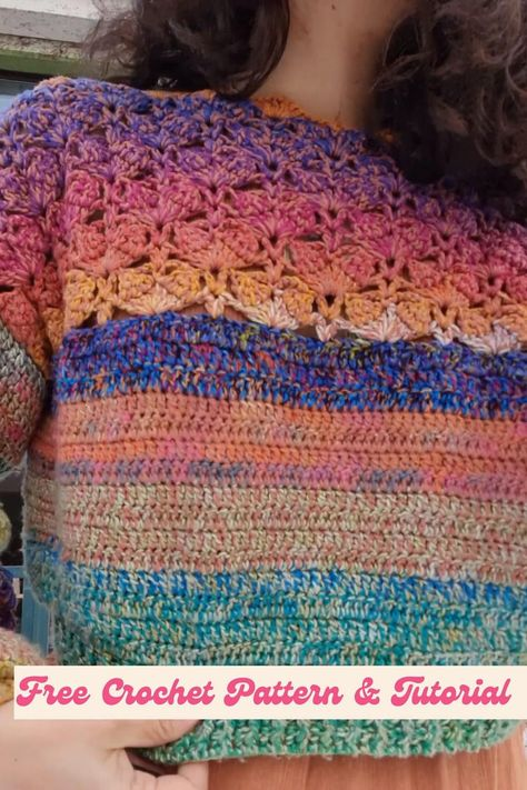 Easy Crochet Crop Sweater