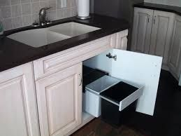 Pull Out Garbage Can Under Sink Stupefy Sliding Wastebin Rona Home