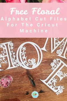 These Cricut cut files can be used for paper cuts and vinyl for iron on projects or wall decals to make gift or products to sell. Cricut Stencils, Cricut Fonts, Free Stencils, Cricut Vinyl, Vinyl Crafts, Paper Crafts, Vinyl Craft Projects, Alphabet Templates, Alphabet Letters