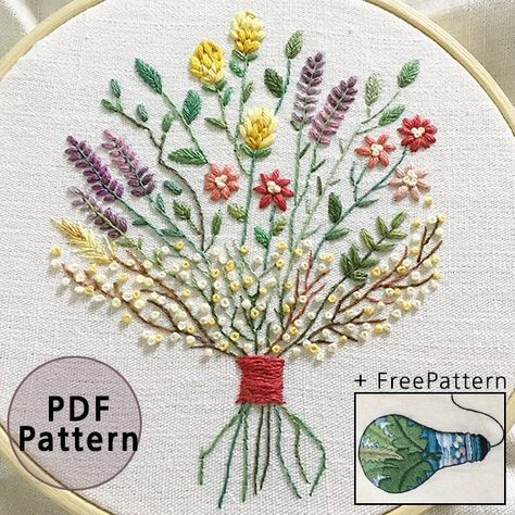 Plus_ Bonus Free Pattern_Dried flower bouquet__PDF | Etsy