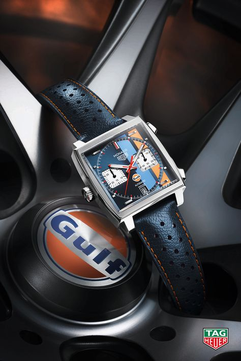 Keep the fire burning with the TAG Heuer Monaco Calibre 11 Gulf Special Edition.