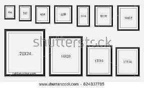 image result for standard frame sizes