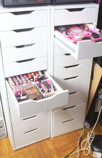 52 Ideas Makeup Storage Cabinet Ikea Alex For 2019 Makeup Diy Makeup Storage Diy Makeup Storage Organizers Ikea Storage Cabinets