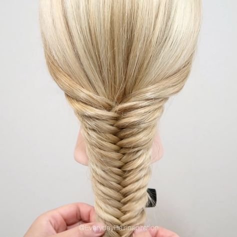 How to fishtail braid step by step for beginners! Click here for the full video!