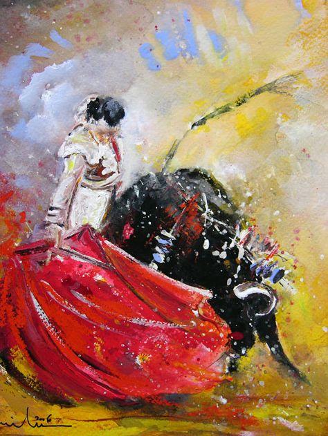 Bullfight Paintings Cuadros Taurinos Peintures De Corridas