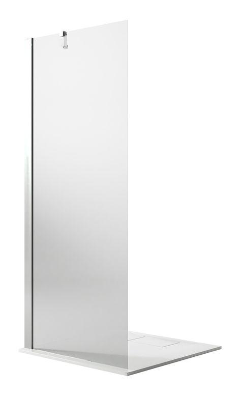 Idralite Paroi Douche Walk in 60CM H190 Verre Transparent avec Traitement Anticalcaire Mod Flip