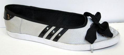 Adidas Adria Ballerina Sleek W Black White Ballet Shoes