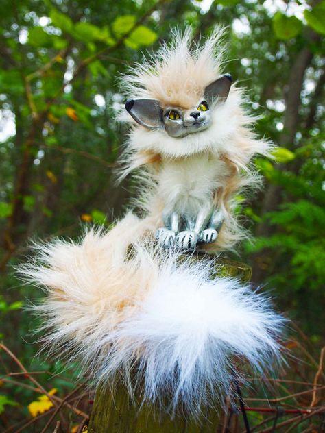 Hatchling Fennec Woodbaby by Gaffanon on Etsy, $100.00