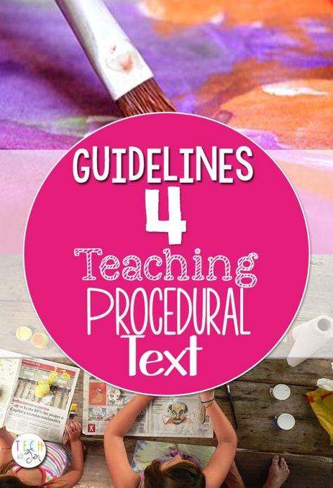 Need ideas for teaching procedural writing? Lots of great tools, templates and guidelines for teaching procedural writing to students.