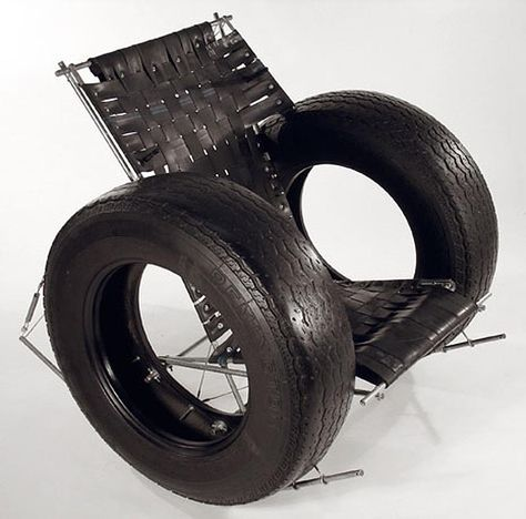 Unique Repurposed tires into a rocking chair Tire Rocker Chair Rodney Allen Trice TomTinc Refitting the Planet repurposing recycling found objects