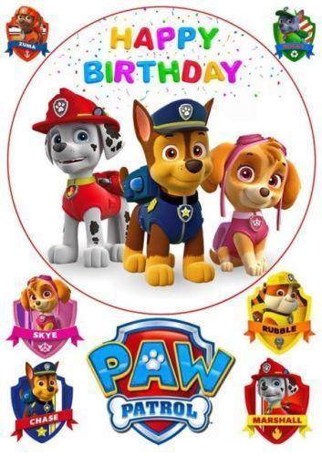 Tortenaufleger Paw Patrol Geburtstag Party Tortenbild