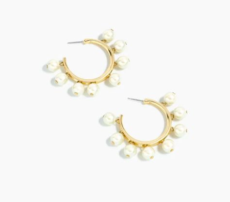Pearl-Drop Hoop Earrings - Statement Earrings to Spice Up Any Outfit - Photos