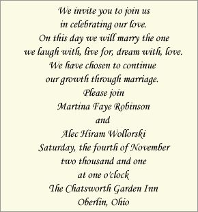 Wedding Invitation Wording Bride And