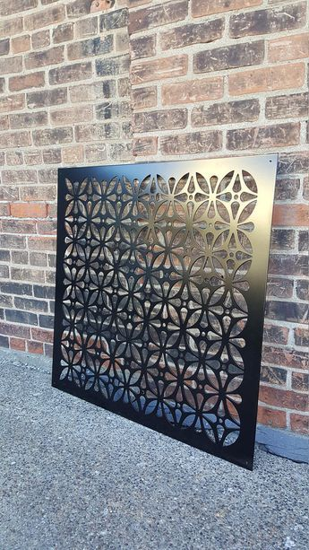 Hiddenflower1 Metal Privacy Screen Decorative Panel Garden Decor Art In 2020 Decorative Metal Screen Decorative Panels Metal Screen