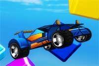 MINICAR CHAMPION - Super colorido y gráficamente genial juego en el que puedes conducir por multitud de circuitos con rampas y toboganes de agua además de conseguir monedas y derribar bloques de distintos colores que te servirán para comprar nuevos carros.