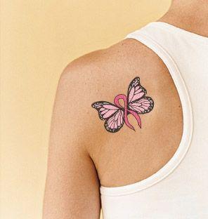 Pink Ribbon Tattoos | pink ribbon butterfly tattoo | Tattoo Designs