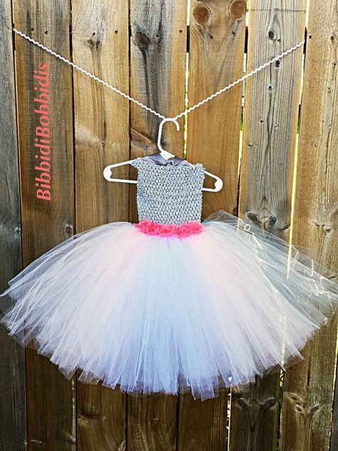 Photo of Items similar to Disney Bambi Thumper the Rabbit Inspired Tutu Dress Flower Girl Dress with Floral E