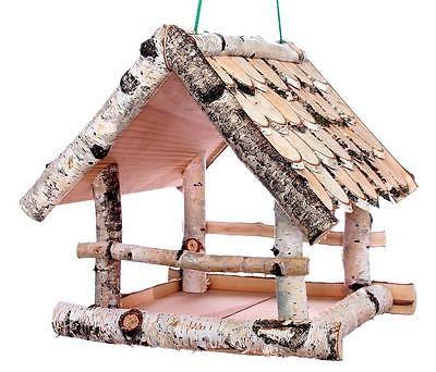 vogelhaus birkenholz pin auf bird feeders