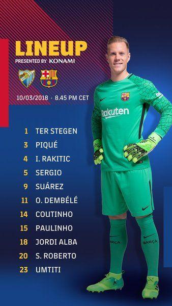 Malaga Barcelona La Liga Santander De Futbol Hoy En Directo Online En 2020 Liga Santander Malaga Barcelona