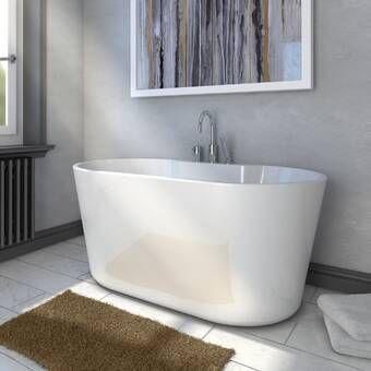 54 X 29 Freestanding Soaking Bathtub Free Standing Tub Soaking Bathtubs Refinish Bathtub