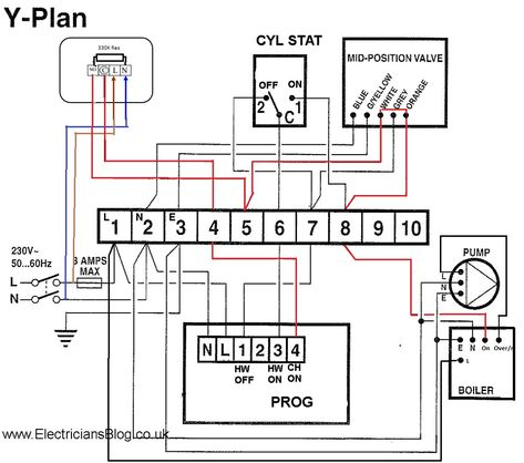 Boiler Wiring Diagram For Thermostat To Y Plan Hive New Central And Heating S In Boiler Wiring Central Heating System Central Heating Diagram Design