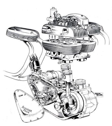 Bmw Motorcycle Engine Illustrations