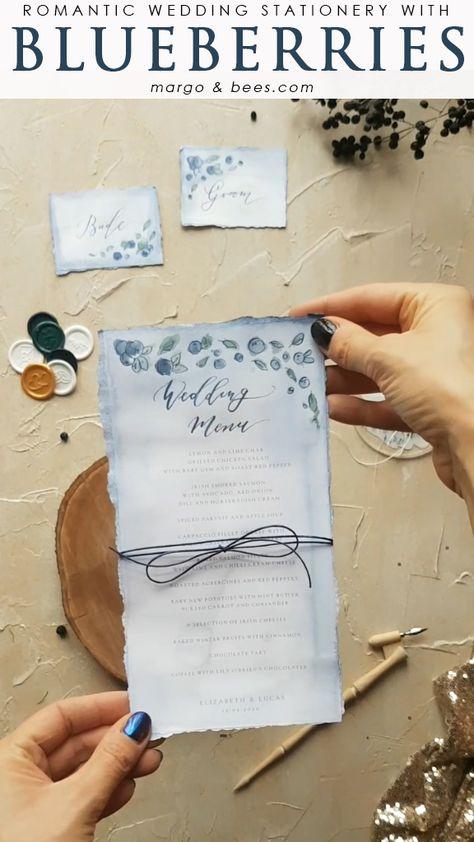 Wedding menu idea   #weddingmenu #blueweddingideas #moderncalligraphy