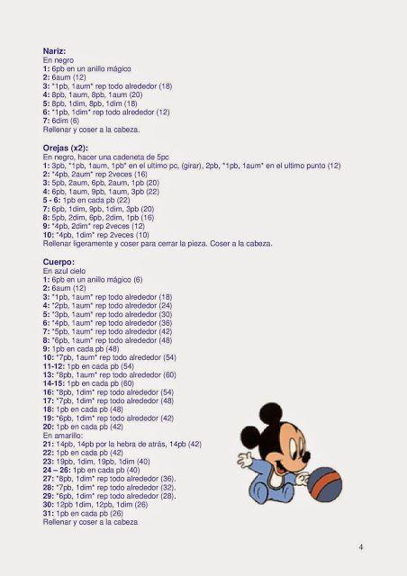 Pato Donald Amigurumi - Receitas Amigurumi Disney Inspiração ... | 640x452