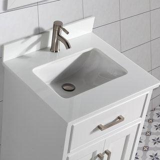 Vanity Art 30 Inch Single Sink Bathroom Vanity Set White Phoenix