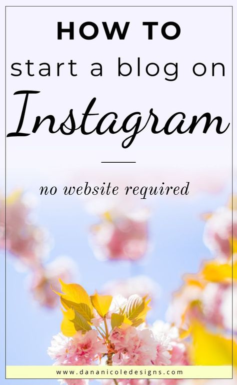 How to Start a PROFITABLE Blog on Instagram in 2021