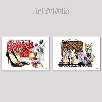 Artifuljulia Amazon Com Art Prints Wall Art Prints Fashion Wall Art