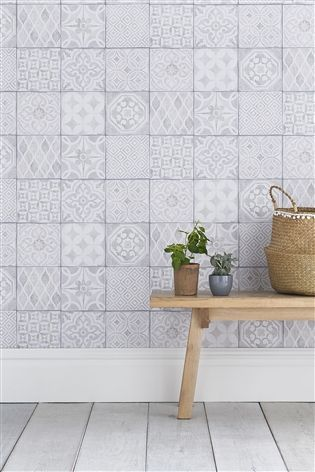 Paste The Wall Painted Tiles Wallpaper Painting Tile Tile Wallpaper Interior Wall Paint