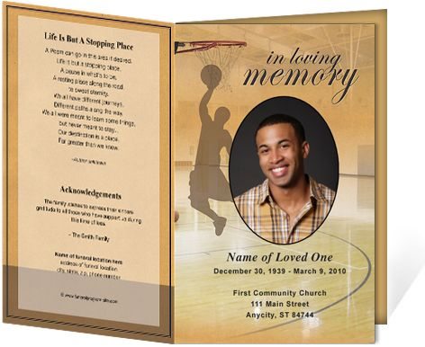 Funeral Program Template Memorial Program by TemplateStock - free funeral announcement template