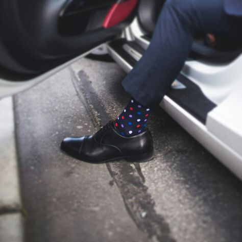 para Hombre Happy Socks Clashing Dot Sock Calcetines
