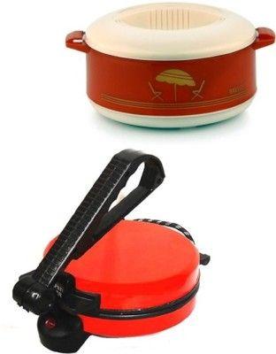 Eco Shopee Combo Of Eagle Red Roti Maker With Casserole Roti