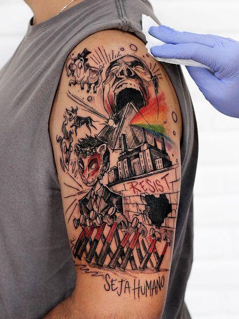 Robson Carvalho > Pink Floyd #tattoo #ink #art #watercolor