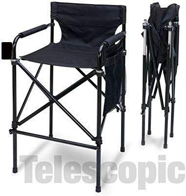 Tall Directors Chair Folding Camping Indoor Outdoor Director Portable Aluminum Outdoor Folding Chairs Directors Chair Outdoor Chairs