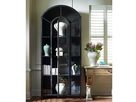 Four Hands Belmont 40 X 17 Black Metal China Cabinet Cabinet