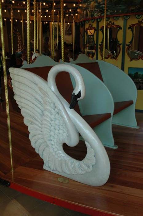 reminds me of the swan swings we rode in with my grandma while growing up