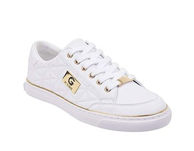 a085755d0e468 G by GUESS Women's Omerica Quilted Faux-Leather Logo Plaque Sneakers ...