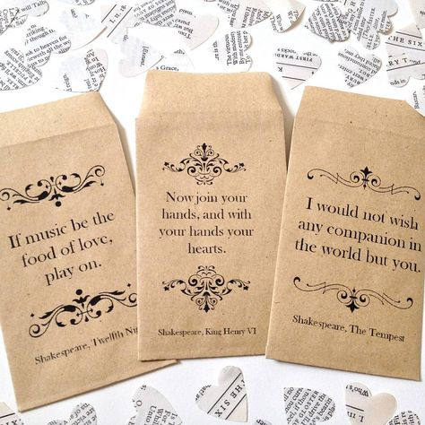 LOVE this!!! Shakespeare book confetti by literary emporium | notonthehighstreet.com