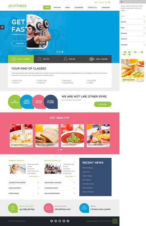 JM Fitness Responsive Joomla Template for Gym, Fitness Clubs