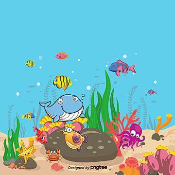 Gambar Hidupan Laut Kartun Berwarna Literatur