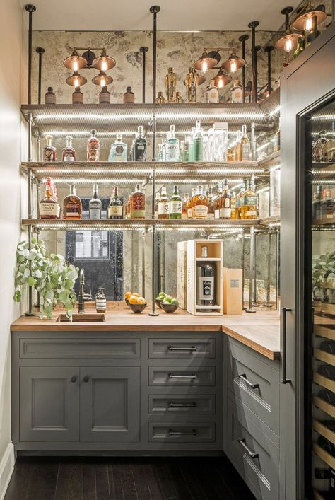 Glass and Pipe Shelving System