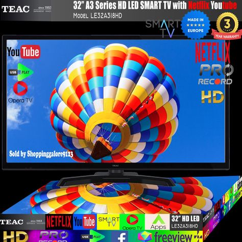 TEAC 49″ Inch FHD SMART TV Netflix Youtube WIFI PVR APPS