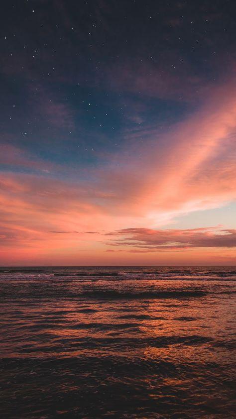 Stunning sunset sky